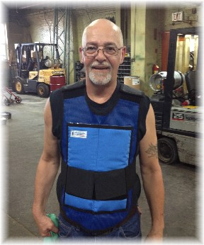 Russ with ice pack vest at Mac-It 6/18/14