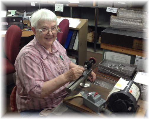 Thelma White beginning 50 years at Vallorbs 6/18/14