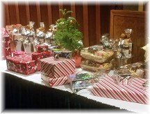 Christmas gift table