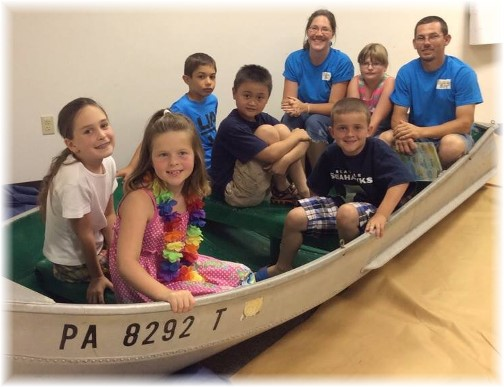 Boat at Mount Pleasant VBS 6/29/14
