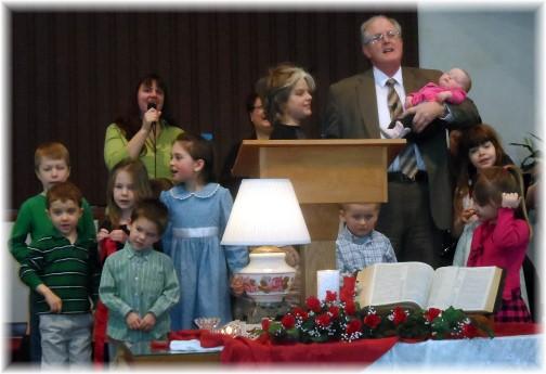 "Children singing ""Jesus Loves Me"" at Mount Pleasant 2/2/14"