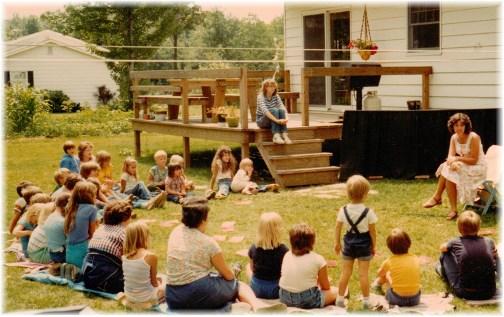 Brooksyne at backyard VBS (early 80's)