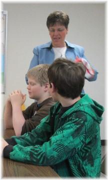 Brooksyne teaching Sunday School 3/16/14