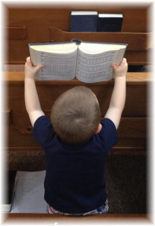 Caleb singing hymn 5/10/15