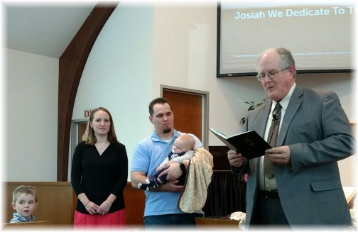 Josiah's dedication 4/2/17 (Photo by Faithe Keefer)
