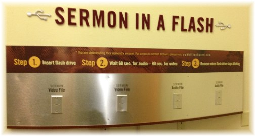 Sermon in a flash