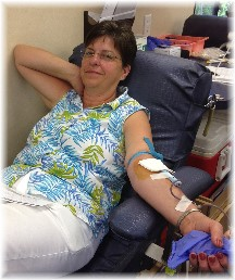 Blood donation 7/25/15