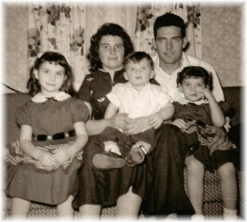 Brooksyne's family February 1960