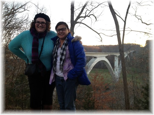 Ester with her cousin Cortny near Nashville TN 11/28/14