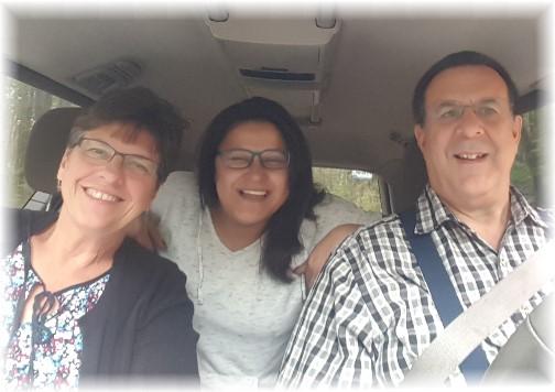 Family at Stony Valley rail grade 10/15/17
