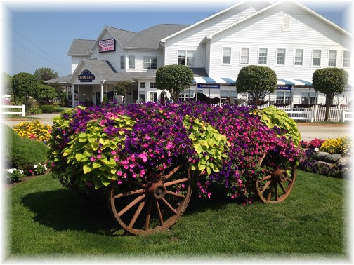 Flower wagon at Blue Gate in Shipshewana Indiana