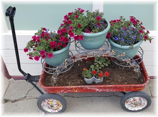 Flower wagon in Silverton, CO 7/8/16