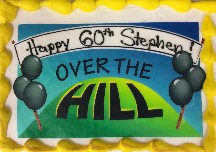 "60th birthday cake ""Over The Hill"""