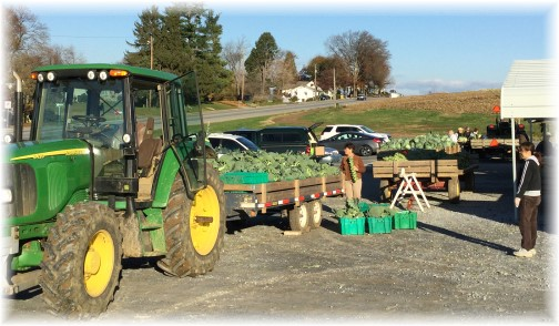 Fresh produce in Lancaster County PA 11/13/15