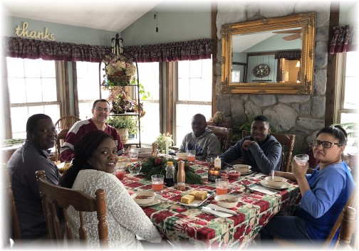 2018 New Year's meal with Ncubes 1/1/18
