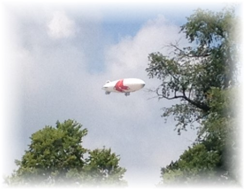 Blimp over our home 6/27/14