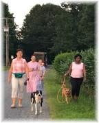 Walking friends on Kraybill Church Road 7/12/16