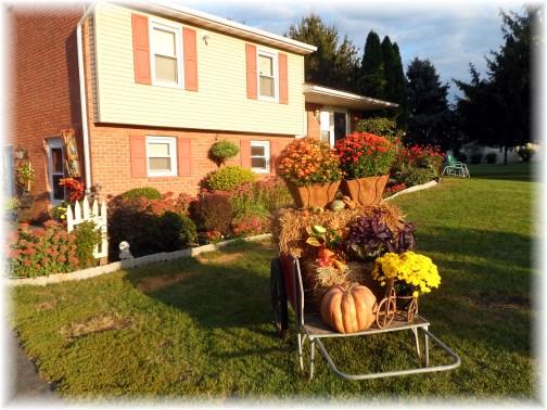 Fall decorative display 9/26/13