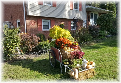 Garden cart decorated 10/14/16