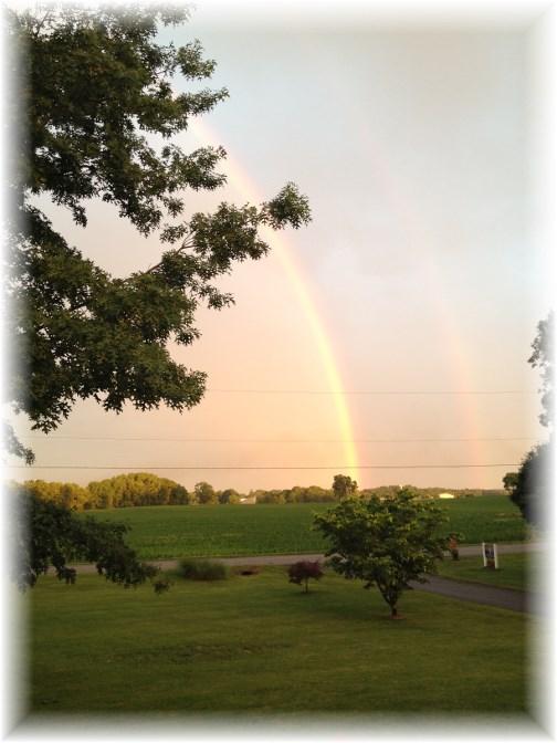 Kraybill Church Road rainbow 6/21/14