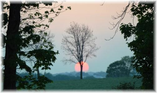 Kraybill Road sunset