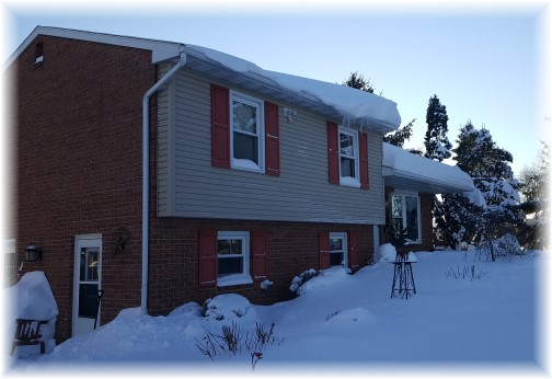 House after snow storm 1/25/16