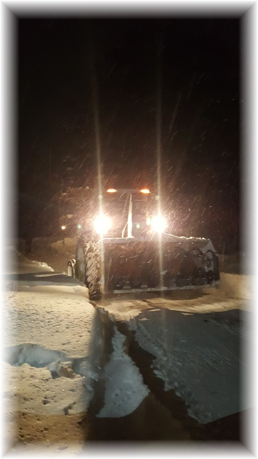Snow storm tractor 1/23/16