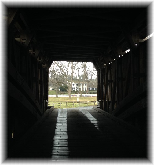 Hunsecker's Mill Covered Bridge 12/28/14 (Click for larger photo)
