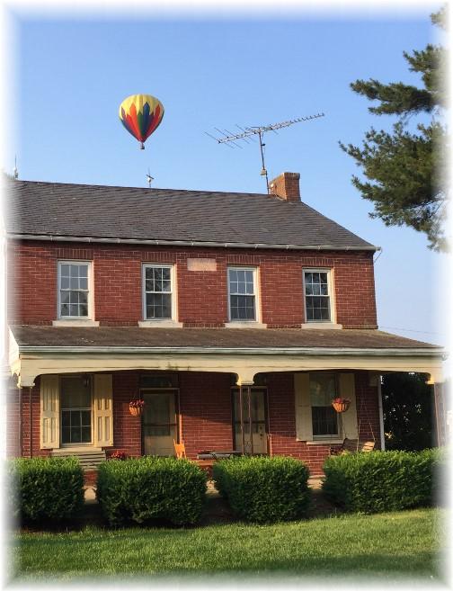 Lancaster County farmhouse with balloon 6/14/17