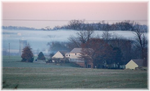 Foggy morning in Lancaster 11/21/12