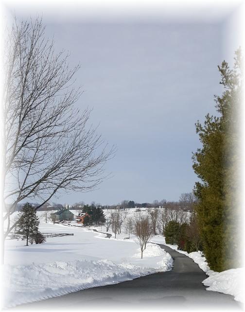 Lancaster farm in snow 1/31/16