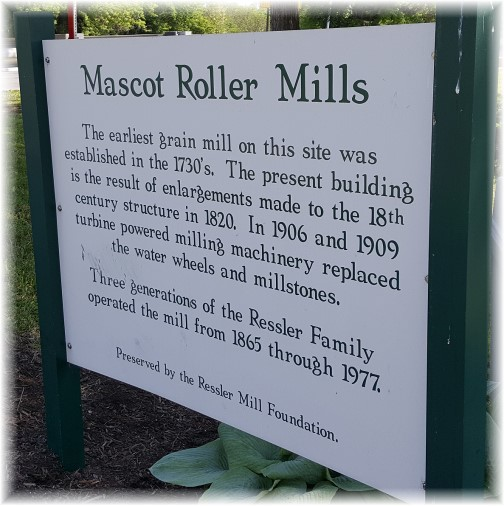 Mascot Roller Mill sign 5/18/17