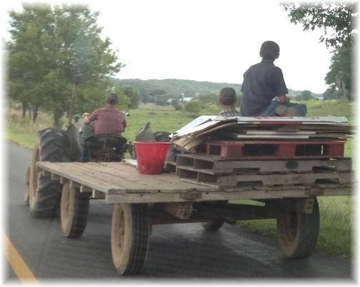 Lancaster County Mennonite harvest scene 9/10/14