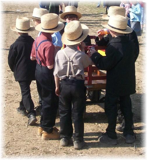 Amish boys at Penryn Mud Sale 3/17/12