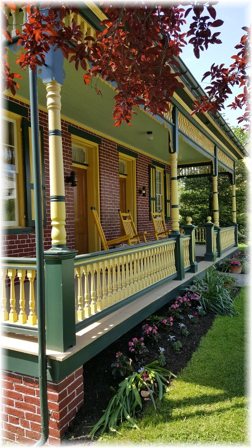 Front porch of Ressler family home 5/18/17