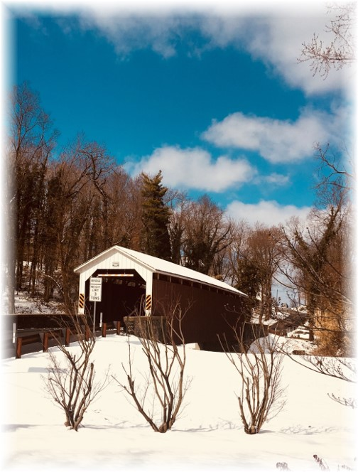 Siegrist's Mill Covered Bridge 2/18/18 (Click to enlarge)