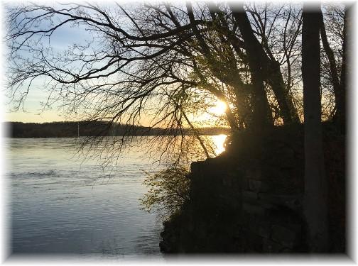 Susquehanna River sunset 4/9/17