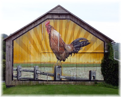 Rooster barn art