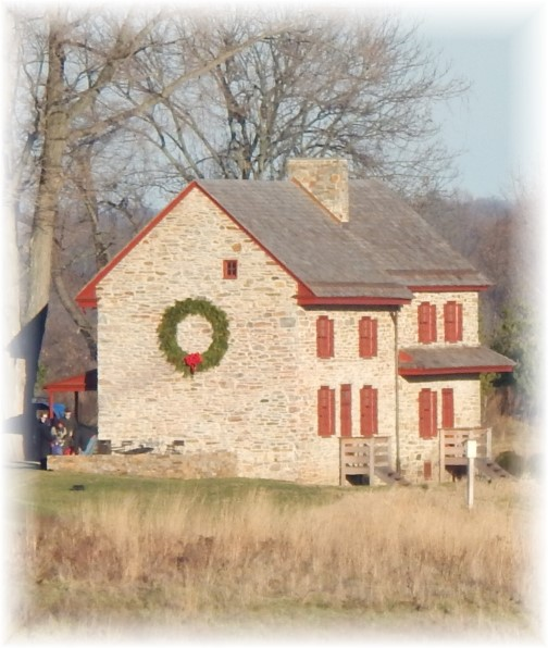 Old stone farmhouse at Longwood Gardens 12/19/14