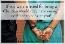 Arrested for being a Christian
