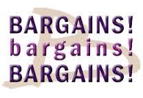 """""""Bargains, Bargains, Bargains"""""""