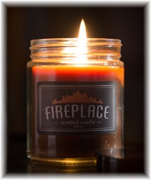 Fireplace candle