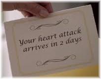 Scheduled heart attack note