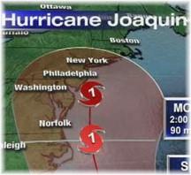 Hurricane Joaquin track