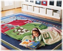 Child napping on mat