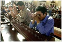 Prayer at altar