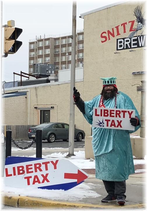 Statue of Liberty tax man 2/6/18 Lebanon, PA
