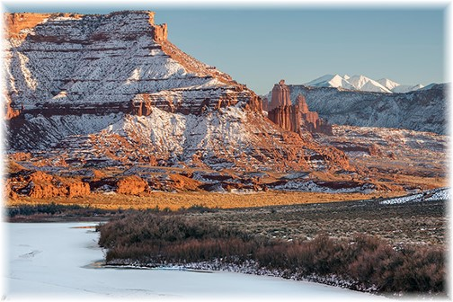 """Fisher Towers and the Frozen Colorado"" (Photo by Hoard Blichfeldt)"