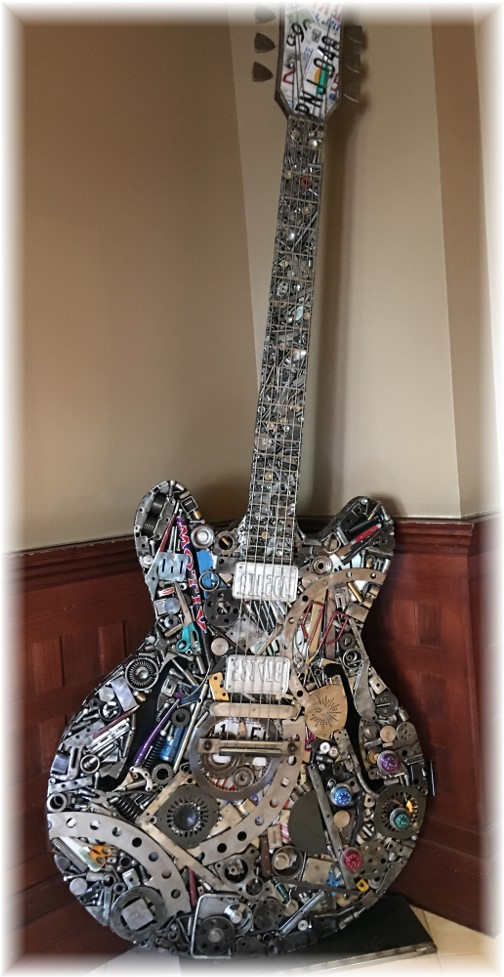 Decorative guitar in Nashville Union Station 11/25/16