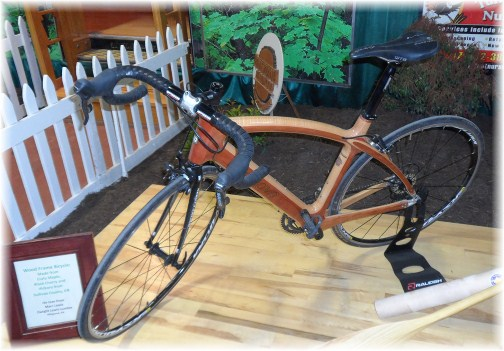 Wood frame bike at 2013 Pennsylvania Farm Show